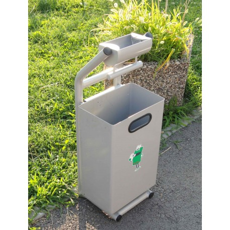 TYPE 2613 TRASH CAN SELF STANDING SQUARE WITH ASHTRAY