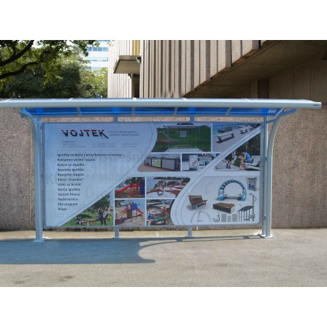 TYPE 1350 BUS STOP SHELTER
