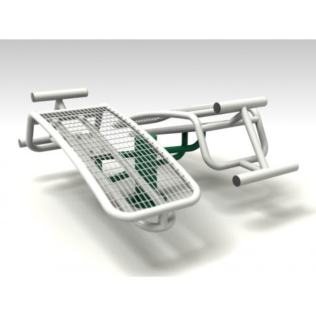 TYPE 9169 INCLINED BENCH  DOUBLE – outdoor fitness apparatus