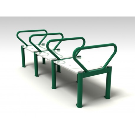 TYPE 9301 BENCH WITH HANDLES – outdoor fitness apparatus