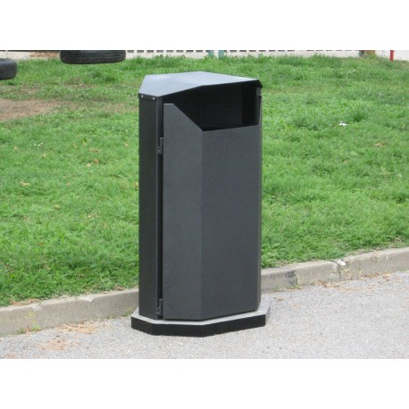 TYPE 2305 TRASH CAN SELF STANDING STEEL