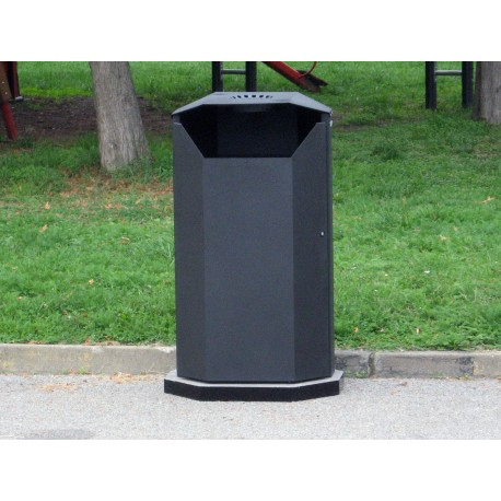TYPE 2305P TRASH CAN SELF STANDING STEEL WITH ASHTRAY