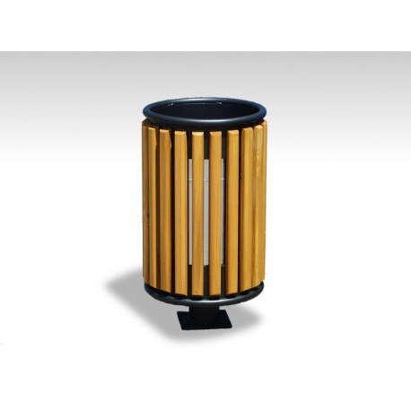 TYPE 2405 TRASH CAN ROUND STEEL – WOOD