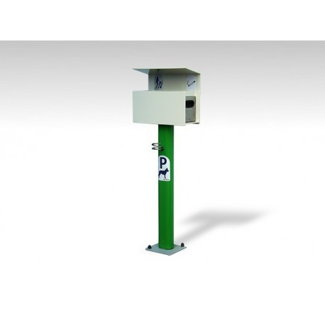 TYPE 7434 – DOG PARKING – POLE FOR TYING DOGS WITH WASTE BIN AND ASHTRAY