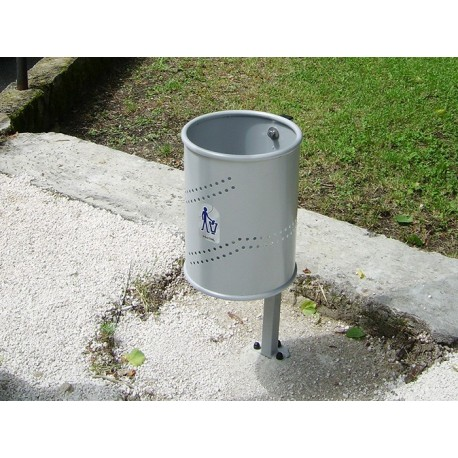 TYPE 2007 TRASH CAN PERFORATED TIN 35L (ON POLE)