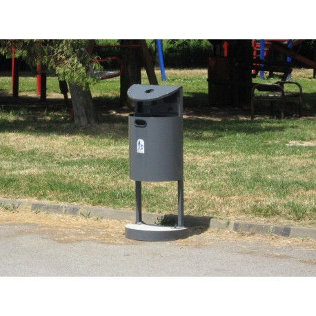 TYPE 2016 TRASH CAN SELFSTANDING WITH ASHTRAY 35L