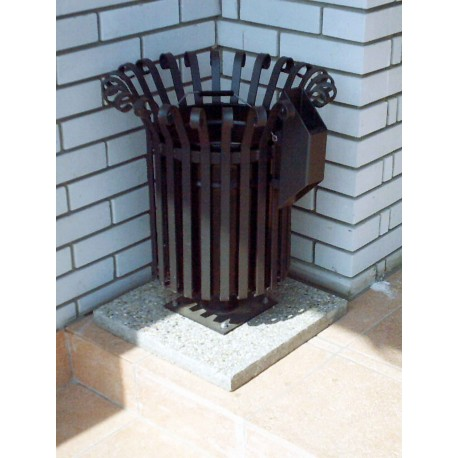 "TYPE 2100P TRASH CAN ROUND WITH ASHTRAY SERIES ""BAROQUE"""
