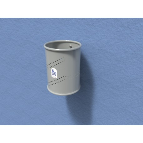 TYPE 2008 TRASH CAN PERFORATED TIN 35L (WALL MOUNTED)