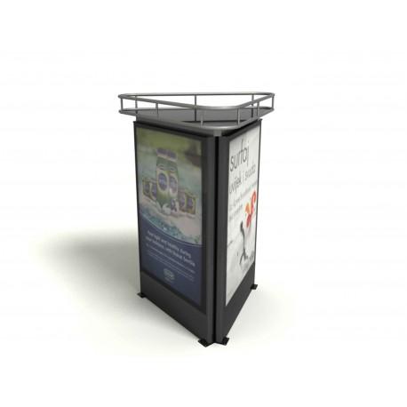 "TYPE 5111 ADVERTISING SHOWCASE TRILATERAL ALUMINIUM – SAFETY GLASS ""CITYLIGHT"""