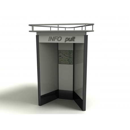 "TYPE 5112 ADVERTISING SHOWCASE BILATERAL FOR INFO DESK ALUMINIUM – SAFETY GLASS ""CITYLIGHT"""