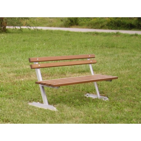 "TYPE 3000 BENCH STEEL – WOOD WITH BACKREST SERIES ""Z"""