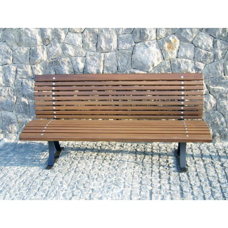 "TYPE 3002 BENCH STEEL – WOOD WITH BACKREST SERIES ""LIBRA"""