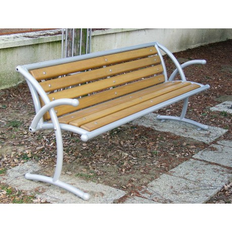"""TYPE 3003 BENCH STEEL – WOOD WITH BACKREST SERIES """"DADA"""""""