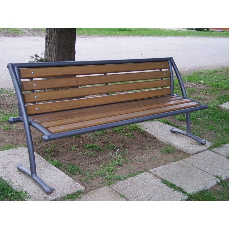 """TYPE 3004 BENCH STEEL – WOOD WITH BACKREST SERIES """"DADA"""""""