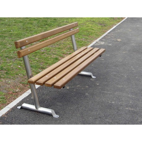"TYPE 3006 BENCH STAINLESS STEEL – WOOD WITH BACKREST SERIES ""Z"""