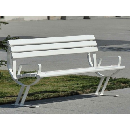 "TYPE 3009A BENCH STEEL  – ALUMINIUM WITH BACKREST SERIES ""LIBRA"""