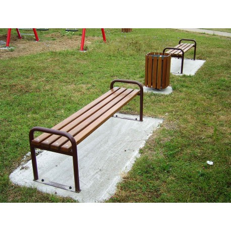 TYPE 3010 BENCH STEEL – WOOD WITHOUT BACKREST