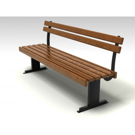TYPE 3016 BENCH STEEL – WOOD – ALUMINIUM WITH BACKREST