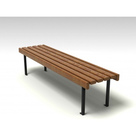 TYPE 3017 BENCH STEEL – WOOD – ALUMINIUM WITHOUT BACKREST