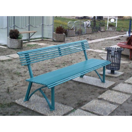 TYPE 3100 BENCH STEEL WITH BACKREST