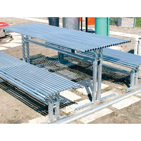 TYPE 3101 TABLE WITH BENCHES STEEL