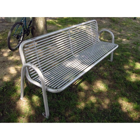 TYPE 3102 BENCH STEEL WITH BACKREST