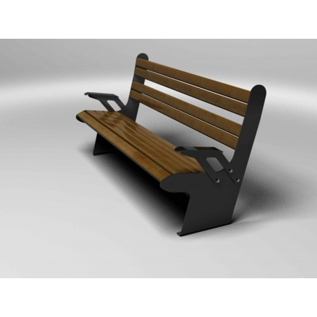 TYPE 3104A BENCH STEEL  – ALUMINIUM WITH BACKREST