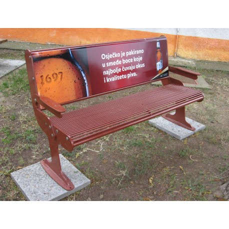 TYPE 3110 BENCH STEEL WITH ADVERTISING SPACE