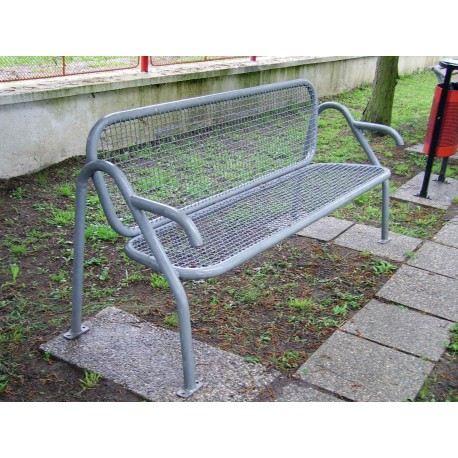 TYPE 3201 BENCH STEEL WITH BACKREST