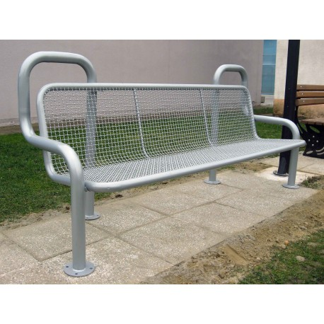 TYPE 3203 BENCH STEEL WITH BACKREST