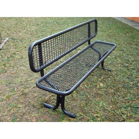 "TYPE 3204N BENCH STEEL WITH BACKREST SERIES ""ROMANS"""