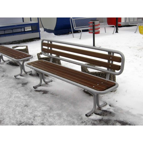 "TYPE 3205N BENCH STEEL – WOOD WITH BACKREST SERIES ""ROMANS"""
