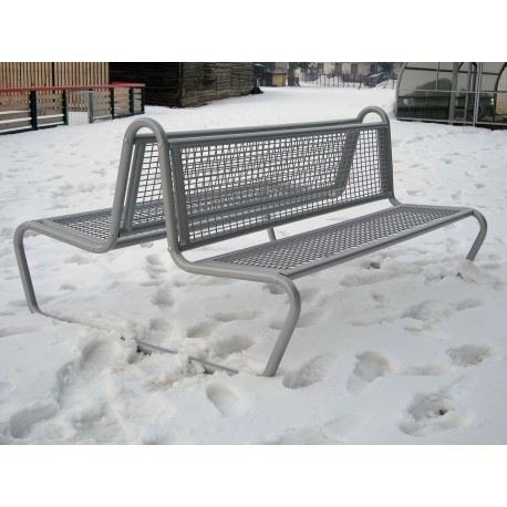 TYPE 3211 BENCH STEEL WITH BACKREST DOUBLE