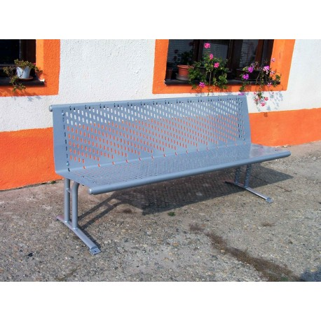 TYPE 3400 BENCH STEEL WITH BACKREST