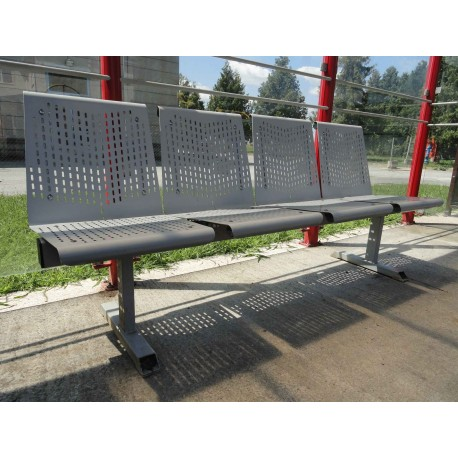 TYPE 3410-1 BENCH STEEL WITH BACKREST
