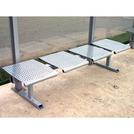 TYPE 3410-2 BENCH STEEL WITHOUT BACKREST