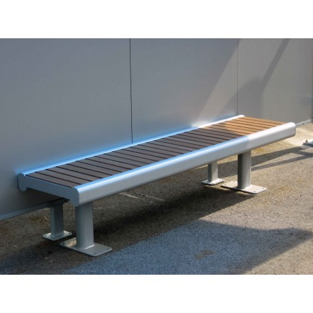 TYPE 3500 BENCH ALUMINIUM – WOOD WITHOUT BACKREST