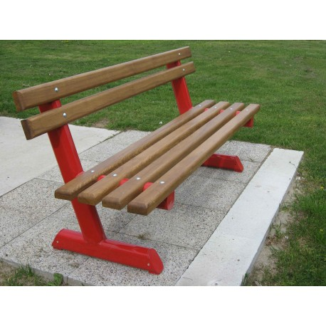 "TYPE 3501 BENCH ALUMINIUM – WOOD WITH BACKREST SERIES ""Z"""