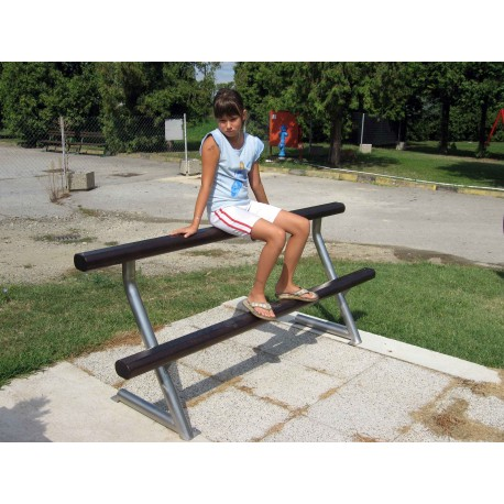 TYPE 3504 BENCH FOR YOUNG STAINLES STEEL – ALUMINIUM WITH BACKREST
