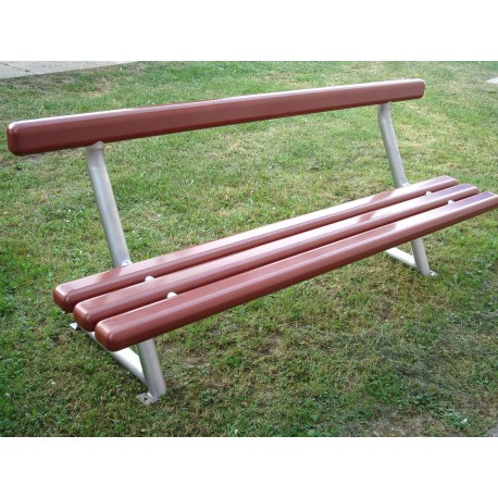 TYPE 3505 BENCH STAINLESS STEEL – ALUMINIUM WITH BACKREST