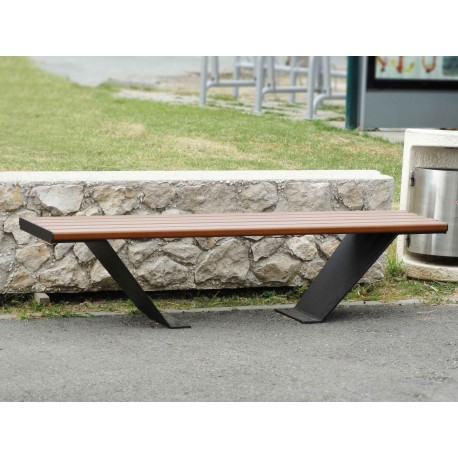 "TYPE 3520 BENCH STEEL – ALUMINIUM WITHOUT BACKREST SERIES ""GOBLET"""