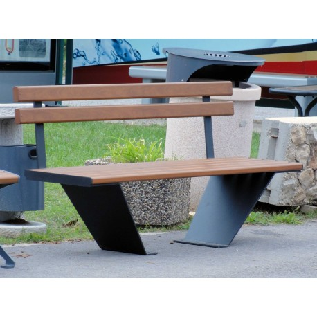 """TYPE 3520N BENCH STEEL – ALUMINIUM WITH BACKREST SERIES """"GOBLET"""""""