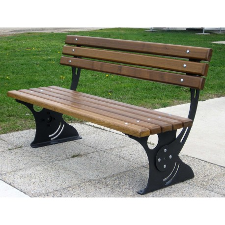 "TYPE 3603N BENCH STEEL – WOOD WITH BACKREST SERIES ""3600"""