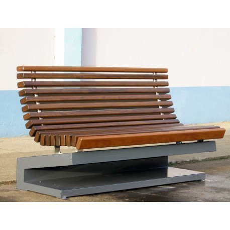 TYPE 3708 BENCH STEEL – STAINLESS STEEL – ALUMINIUM – WOOD WITH BASE