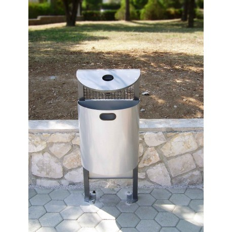 TYPE 2010 TRASH CAN SELFSTANDING WITH ASHTRAY 35L