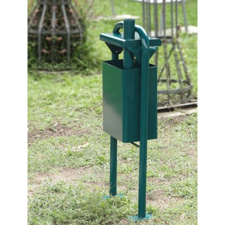 """TYPE 2041P TRASH CAN SQUARE WITH ASHTRAY SERIES """"ZAGREB"""""""