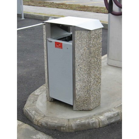 TYPE 2250 TRASH CAN SELF STANDING CONCRETE-STEEL
