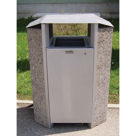 TYPE 2250I TRASH CAN SELF STANDING CONCRETE-STAINLESS STEEL