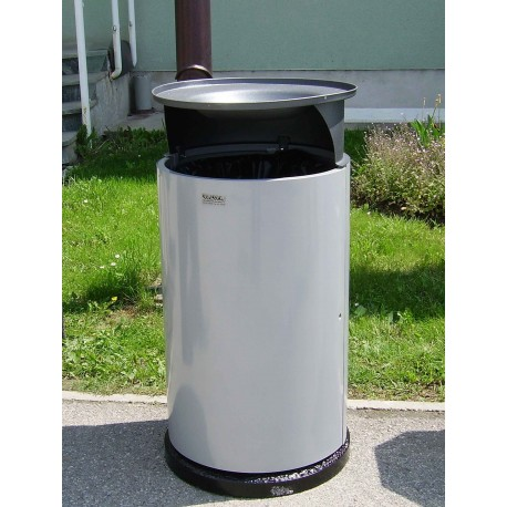 TYPE 2302 TRASH CAN SELF STANDING ROUND