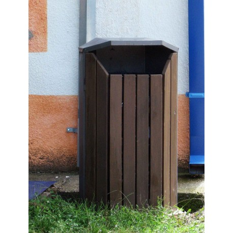 TYPE 2303 TRASH CAN SELF STANDING STEEL-WOOD